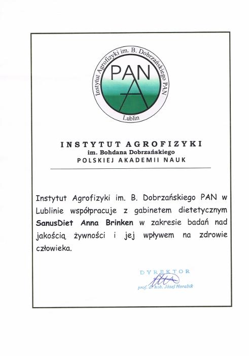 Współpraca instytut Agrofizyki w Lublinie - analiza pierwiastkowa włosów